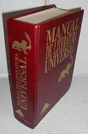 MANUAL DE LITERATURA UNIVERSAL. 1ª edición? Coordinación.: ZAMORA NIETO, Fanny