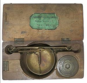 GOLD SCALE In ORIGINAL MANUFACTURER'S WOODEN CASE,: California Gold Rush]