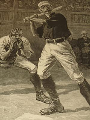 """1888 Harper's Weekly Baseball Engraving """"A Ball Or A Strike-Which?"""" - 19th Century ..."""