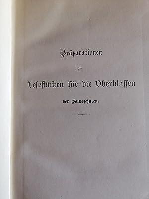 Präparationen zu Lesestücken für die Oberklassen der Volksschulen: Langer Otto: