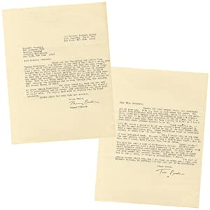 Two Typed Letters Signed about the possible Polish translation of his work