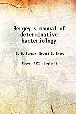 Bergey's manual of determinative bacteriology (1957)[SOFTCOVER]: D. H. Bergey,