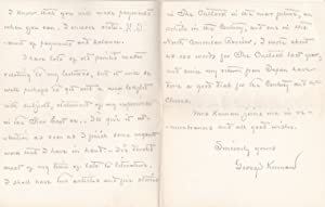 AUTOGRAPH LETTER TO THE SECRETARY OF LECTURE PROMOTER JAMES B. POND SIGNED BY AMERICAN EXPLORER ...
