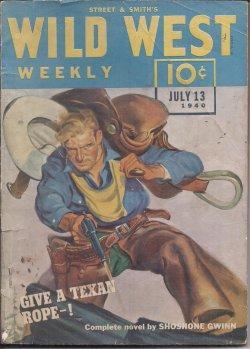 WILD WEST Weekly: July 13, 1940: Wild West Weekly