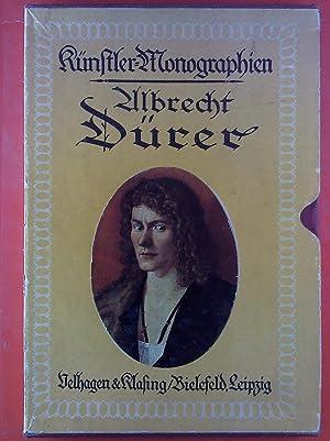 Albrecht Dürer. Künstler-Monographien 5. Buch in Schuber: H. Knackfuß