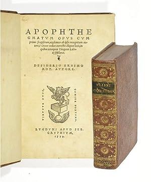 Apophthegmatum opus cum primis frugiferum, vigilanter ab: Erasmus von Rotterdam,