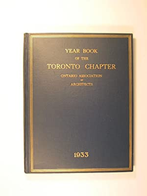 Year Book of the Toronto Chapter - Ontario Association of Architects