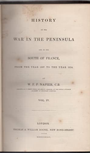 History of the War in the Peninsula: NAPIER W F