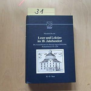 Leser und Lekture im 18. Jahrhundert - Die Ausleihbucher der Herzog August Bibliothek Wolfenbuttel ...