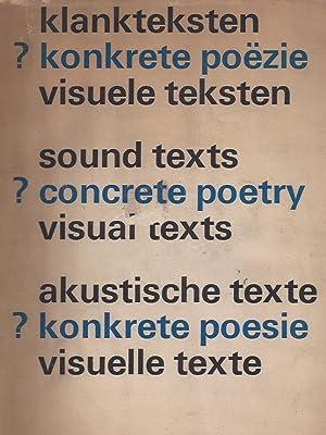 Klankteksten Konkrete poëzie visuele teksten / ?: de Wilde, E.
