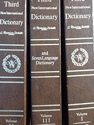 Seller image for Webster's Third New International Dictionary of the English Language Vol. I A - G, Vol. II H - R, Vol. III S - Z. for sale by Historia, Regnum et Nobilia