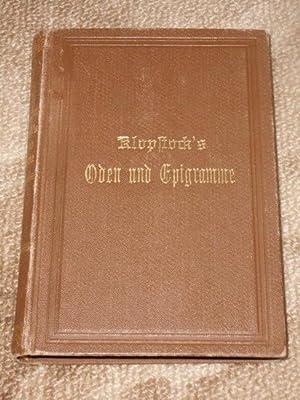Bild des Verkäufers für F. G. Klopstocks Oden und Epigramme zum Verkauf von Bücheroase Jens Neumann