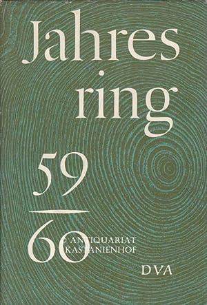 Konvolut 4 Bände Jahresring. Bände 1959 bis 1964.,Beiträge zur deutschen Literatur und Kunst der ...