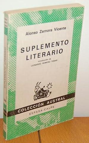 SUPLEMENTO LITERARIO: ALONSO ZAMORA VICENTE