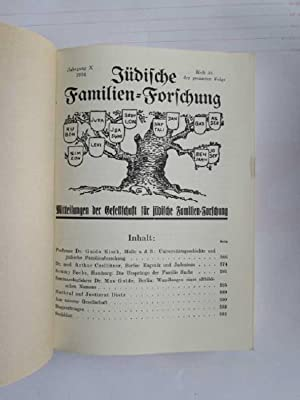 Jüdische Familien-Forschung - Jahrgang X-XIV (Heft 35 bis 50): Czellitzen, Arthur, Guido Kisch ...