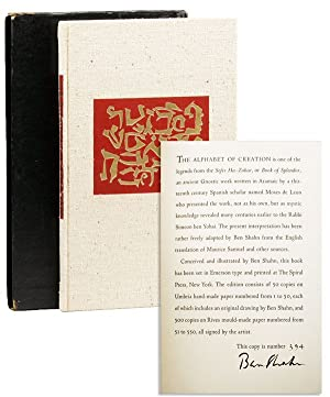 The Alphabet of Creation. An ancient legend from the Zohar with drawings by Ben Shahn [Signed, Li...