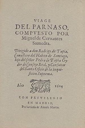 VIAJE DEL PARNASO.: CERVANTES, Miguel de.
