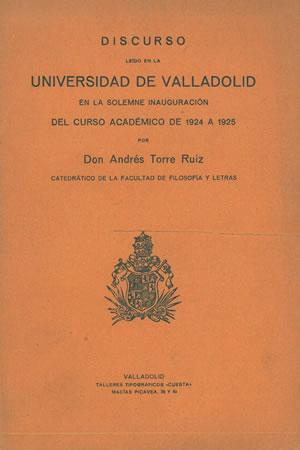 ESCULTURA CASTELLANA. CONTRIBUCIÓN AL ESTUDIO DEL ARTE: TORRE RUIZ, Andrés.