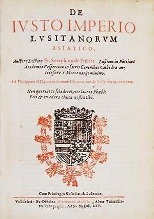 DE IVSTO IMPERIO LVSITANORVM ASIATICO.: FREITAS, Fr. Serafim