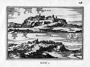 Montclaire Val-de-Meuse Frankreich France gravure estampe Kupferstich