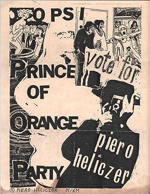 Flyer Sent to Ira Cohen from Piero: HELICZER, Piero