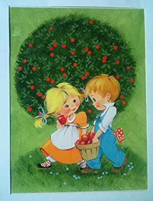 ORIGINAL CHILDREN'S BOOK COVER ART Circa late: ORIGINAL CHILDREN'S BOOK