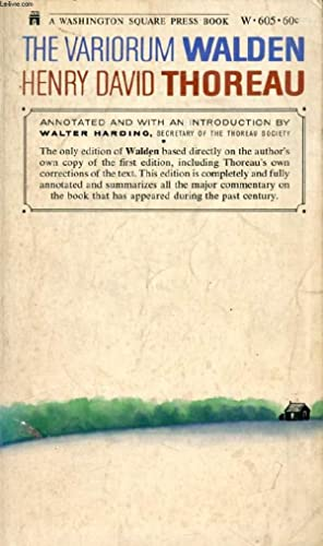 Seller image for THE VARIORUM WALDEN for sale by Le-Livre