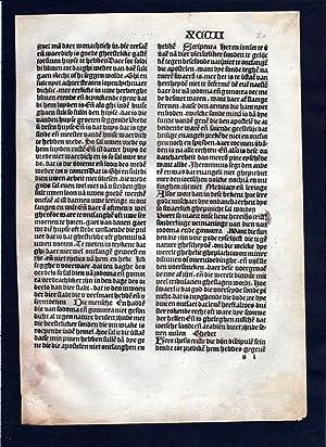 Blatt XCVII Inkunabel Vita Christi Zwolle incunable Dutch Holland: de Saxonia, Ludolphus:
