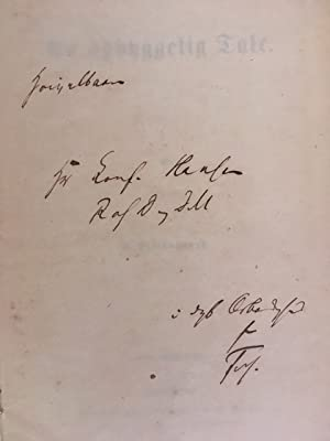En opbyggelig Tale (An Edifying Tale) INSCRIBED by Kierkegaard.