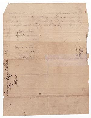 AUTOGRAPH DOCUMENT DATED JULY 1777: A PETITION SIGNED by the daughter of a widowed female ...