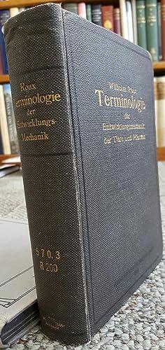 Terminologie der Entwicklungsmechanik der Tiere und Pflanzen in Verbindung mit C. Correns, Alfred ...