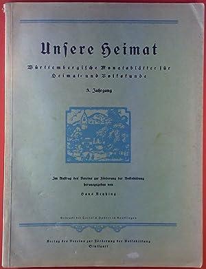 Unsere Heimat Monatsblatter Zvab
