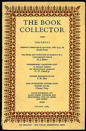 Bild des Verkäufers für The Book Collector: Volume 12 No. 3 [Autumn 1963] zum Verkauf von Little Stour Books PBFA Member