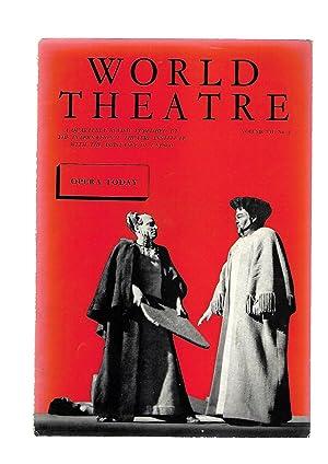 WORLD THEATRE A Quarterly Review. Le Theatre Dans Le Monde. WINTER 1958 1959. Volume VII. No. 4. ...