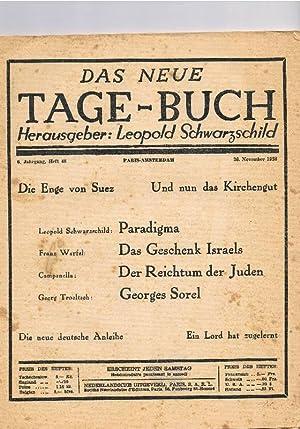 Das neue Tage-Buch. 6. Jahrgang, 26. November: Schwarzschild, Leopold (Hg.)