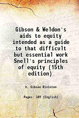 Gibson & Weldon's aids to equity intended: h. Gibson Rivinton