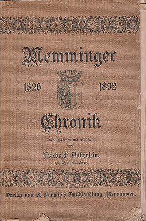 Memminger Chronik des Friedrich Clauß , umfassend die Jahre 1826 - 1892, - Memmingen -: Döderlein (...