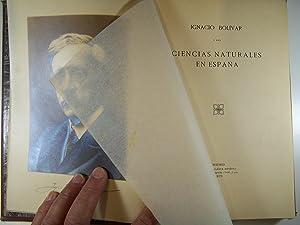 CIENCIAS NATURALES EN ESPAÑA: IGNACIO BOLÍVAR