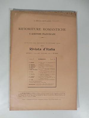 Rifioriture romantiche e questioni francescane: DELLA GIOVANNA I.