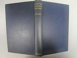 Elementary Statistical Methods: Rhodes, E C