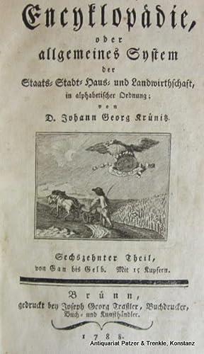 Oeconomische Encyclopädie, oder allgemeines System der Staats-,: Gartenkunst. -- Krünitz,