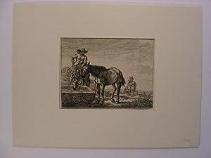 1. Blatt: Pferde an der Tränke; 2.: Stoop, Dirk: