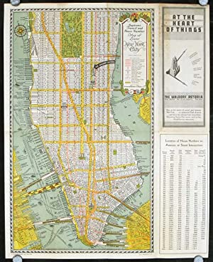Hagstrom's Transit and House Number Map of Lower New York City. / At the Heart of Things The Wald...