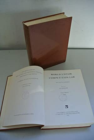 World Unfair Competition Law. An Encyclopedia. Vol. I and II (complete!). The Protextion of ...