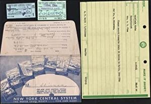 New York Central System Water Level Route.You can Sleep. Envelope, Pullman Co. Passenger check st...