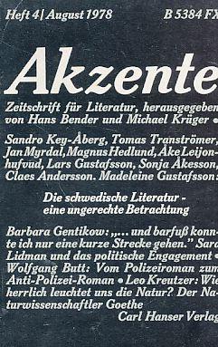 Heft 4 / 1978. Akzente. Zeitschrift für: Bender, Hans (Hrsg.)