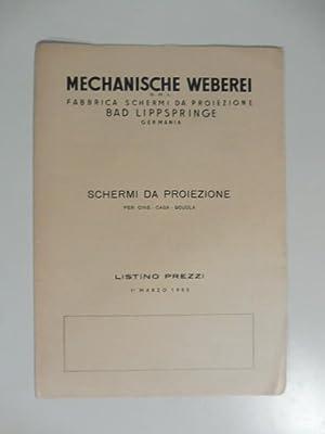 Mechanische Weberei. Fabbrica schermi da proiezione Bad Lippspringe. Schermi da proiezione per cine...