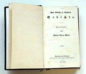 Gedichte. Herausgegeben von Johann Georg Müller.: Herder, Johann Gottfried