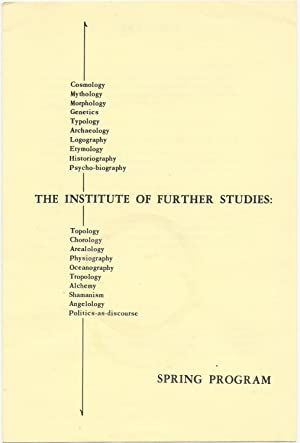 The Institute of Further Studies: Spring Program