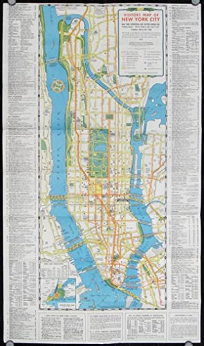Visitors Guide and Map of New York. The Greatest All-Year-Round Vacation City.